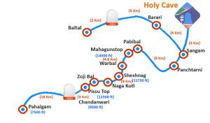 Amarnath Yatra Map