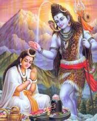 Shiva and Parvati in Amarnath